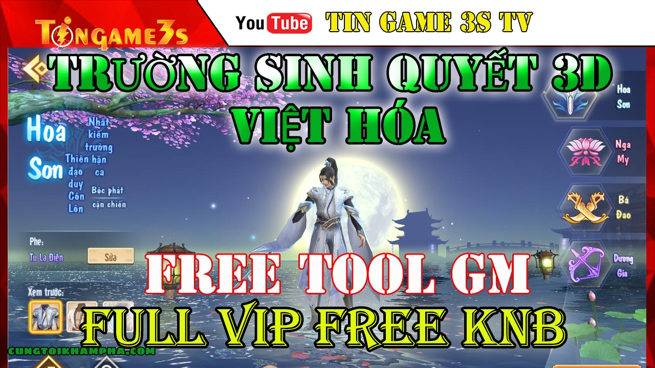 Game Mobile Private | Trường Sinh Quyết Việt Hóa Tool GM | Free VIP Free KNB | ANDROID