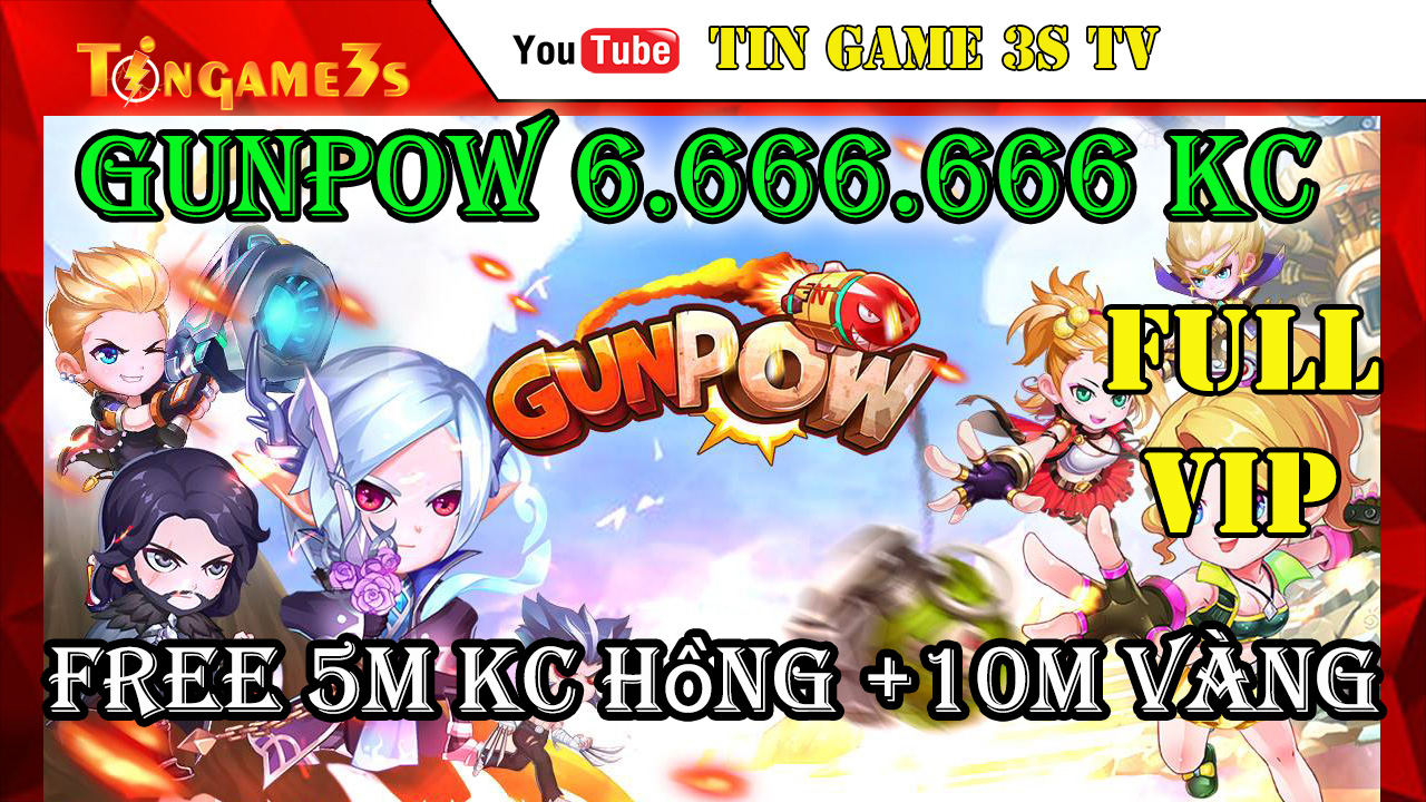 Game Mobile Private|Game Gunpow TOOL GM Free FULL VIP 6.666.666KC Xanh|5M KC Hồng 10M Vàng| APK & IOS